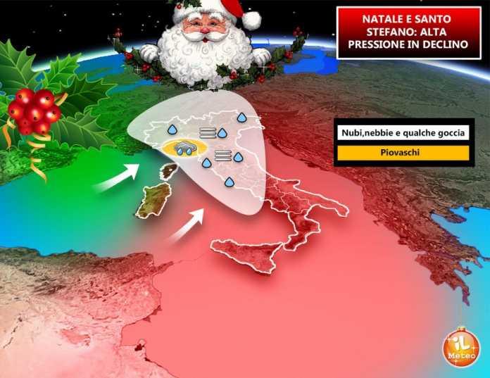 Previsioni Meteo del Pomeriggio di Giovedì 21 Dicembre 2017