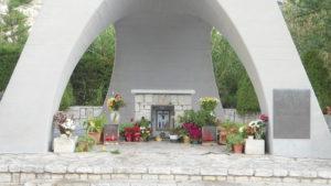 Particola del monumento con altare di Gesù Nazareno